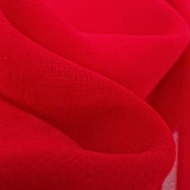 Chiffon Viscosa Rosso