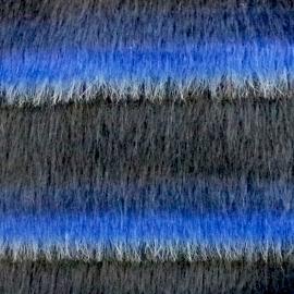 Misto Lana Pelliccia Blu