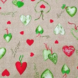 Love Heart Verde/Rosso