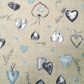 Love Heart Grigio/Marrone