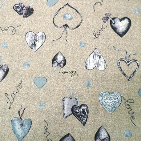 Love Heart Grigio/Marrone
